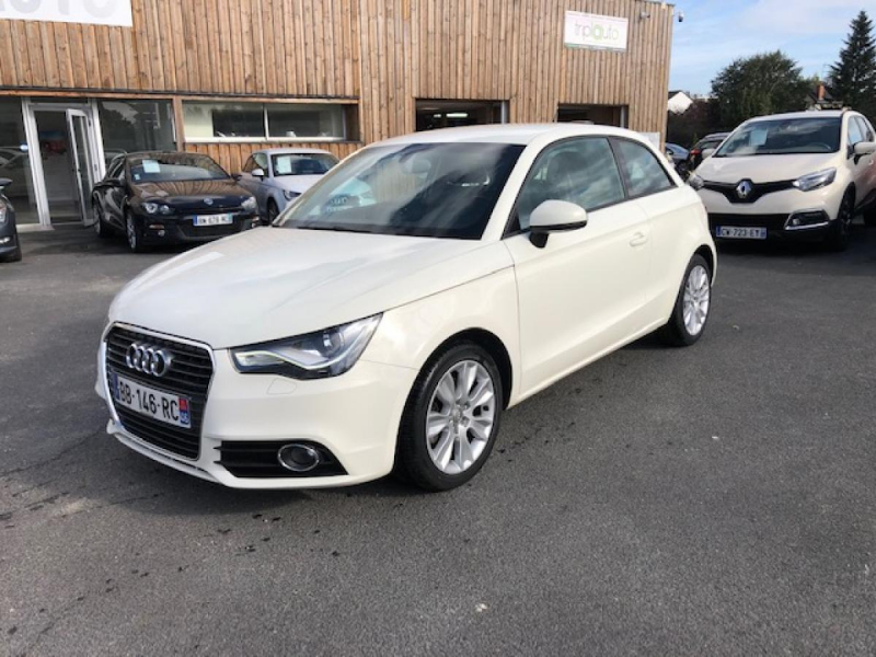Audi A1  1.6 TDI DPF - 105 - START/STOP  BERLINE AMBITION PHASE 1 Diesel BLANC Occasion à vendre